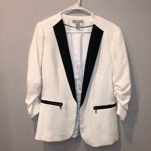 White/Black Blazer